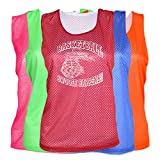 JANT girl Basketball Mesh Pinnie Swoosh Happens Logo