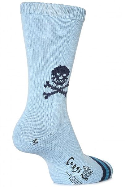 Corgi - Calcetines de algodón para hombre - Calavera (1 Par)-Harebell-41-43: Amazon.es: Ropa y accesorios