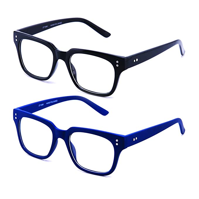 e16e5b2de8 Image Unavailable. Image not available for. Color  Newbee Fashion - Clear  Frames Nerd Geek Squared Simple ...