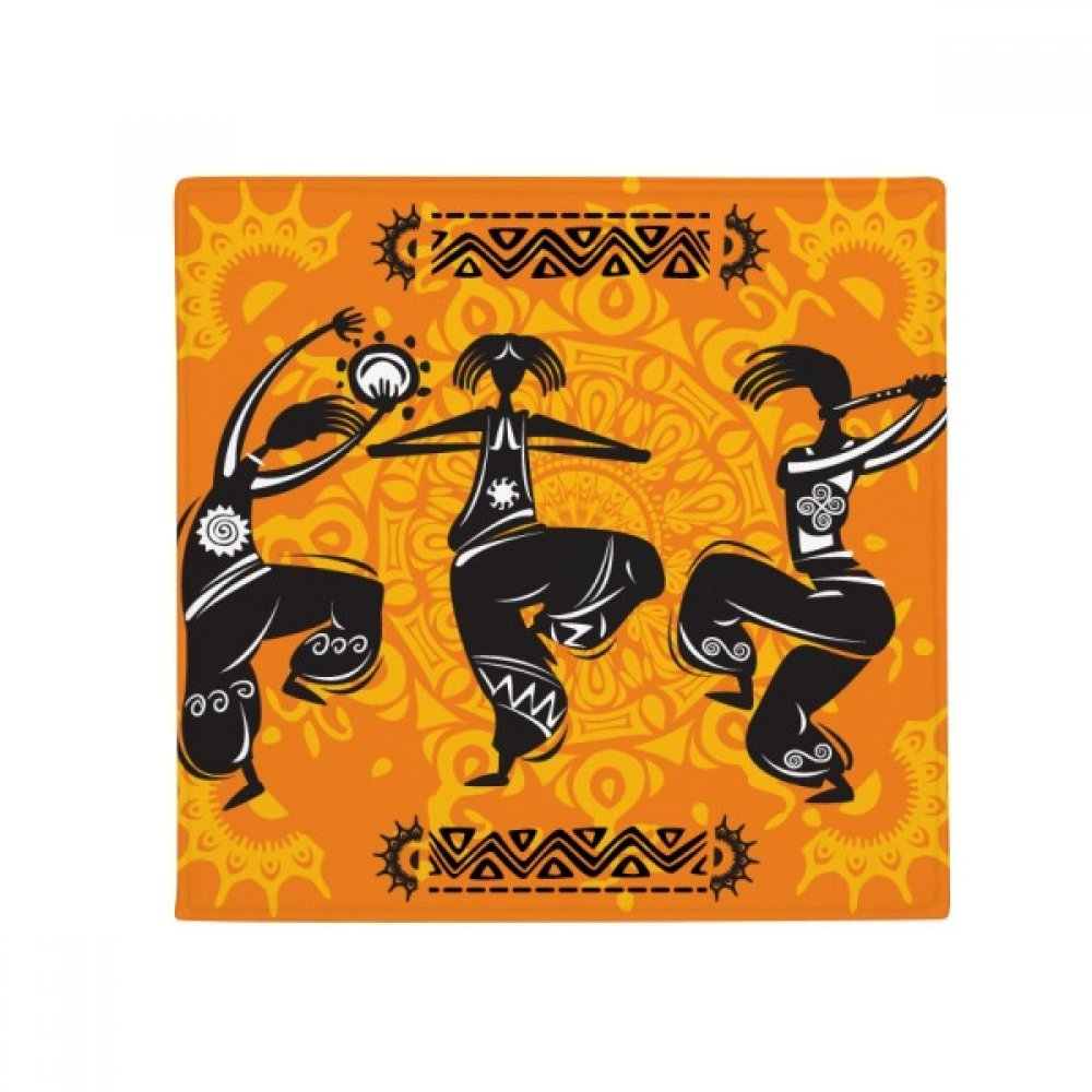 Dance People Mexico Totems Mexican Flute Anti-slip Floor Pet Mat Square Home Kitchen Door 80cm Gift