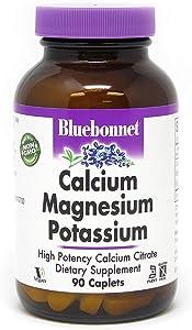 BlueBonnet Calcium Magnesium Plus Potassium Caplets, 90 Count