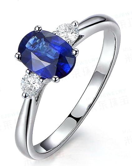 706286858a0d9 Trilogy Half Carat oval cut Sapphire and Round Diamond Engagement ...