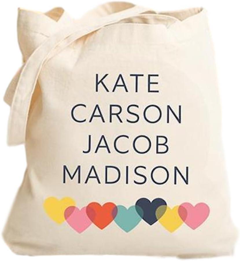 Custom Tote New Mom Gift Personalized Canvas Tote Diaper Bag Custom Name Animal Alphabet Letter S Snail Design Baby Shower Gift
