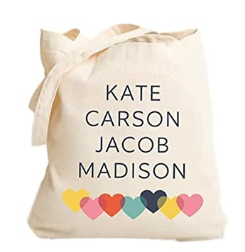 Personalized Tote Bag For Women Personalized Gifts For Mom And Grandma Family Names Modern Design