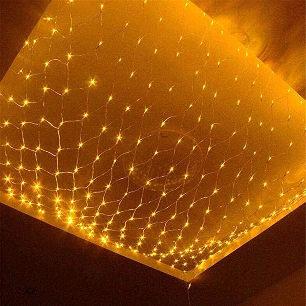 LEDライトフェアリーテイルネットライト10x8mウォームホワイト屋内/屋外のクリスマスライトの文字列ツリーライトホリデーデコレーション