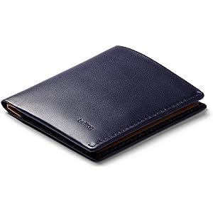 Bellroy Note Sleeve、スリムレザーウォレット、RFID選択可(カード11枚までと現金) - Navy - RFID