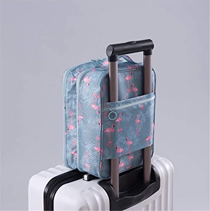 MOREIA Travel Shoe Bag Portable Organizer Dust-Proof Breathable Bags Transparent Window for All Kinds of Shoes Blue