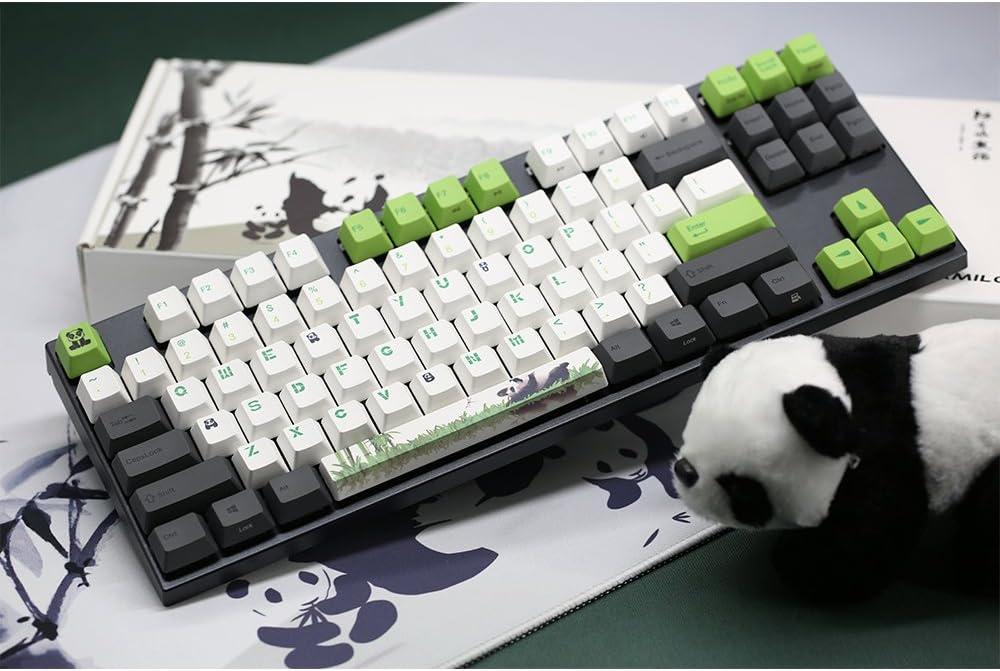 Varmilo Gaming 87 Key Cherry Black Mx Switches Panda three-color PBT Keycaps Dye Sublimation Printing white LED lights Mechanical Gaming Keyboard VA87M