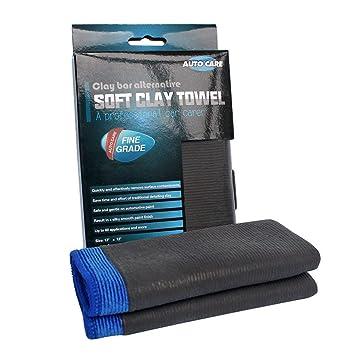 Autocare Manoplas limpieza coche, microfibra de barra de arcilla para toallas de grado fino: Amazon.es: Coche y moto