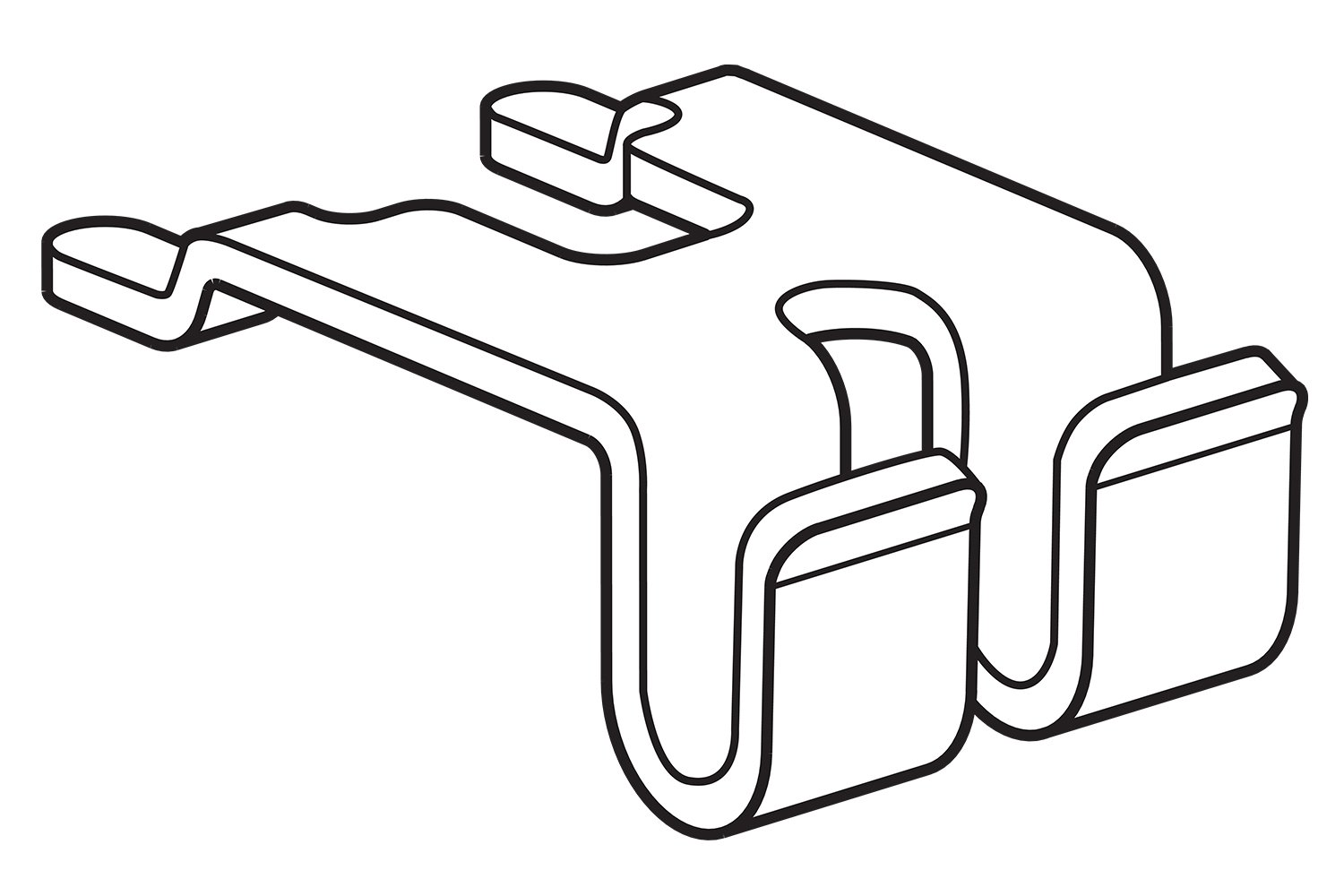 FFR Merchandising 8304293200 Shelf Attachment for Wire Power Wing Pack of 125 Self-Mount