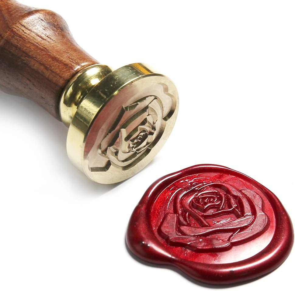 Invitation Rose Wax Seal Wax Seal Rose Silver Gold Rose Wax Seal Copper Self adhesive wax seal Envelope Sealer Wine Red Was Seal