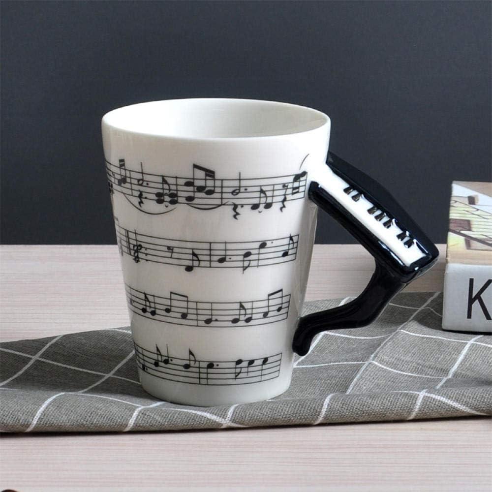 GGXH Taza de cerámica de música Creativa Taza Taza de Guitarra ...