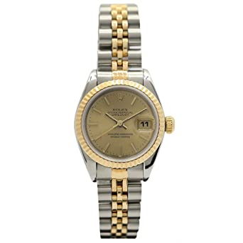5b117187b05e Rolex Oyster Perpetual Datejust 26MM 18KT Yellow Gold and Steel  69173-Certified Pre-Owned