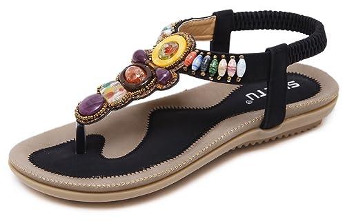 98bc05a697549 JIYE Fashion Shoes Women s Gemstone Casual Sandals Summer Shoes