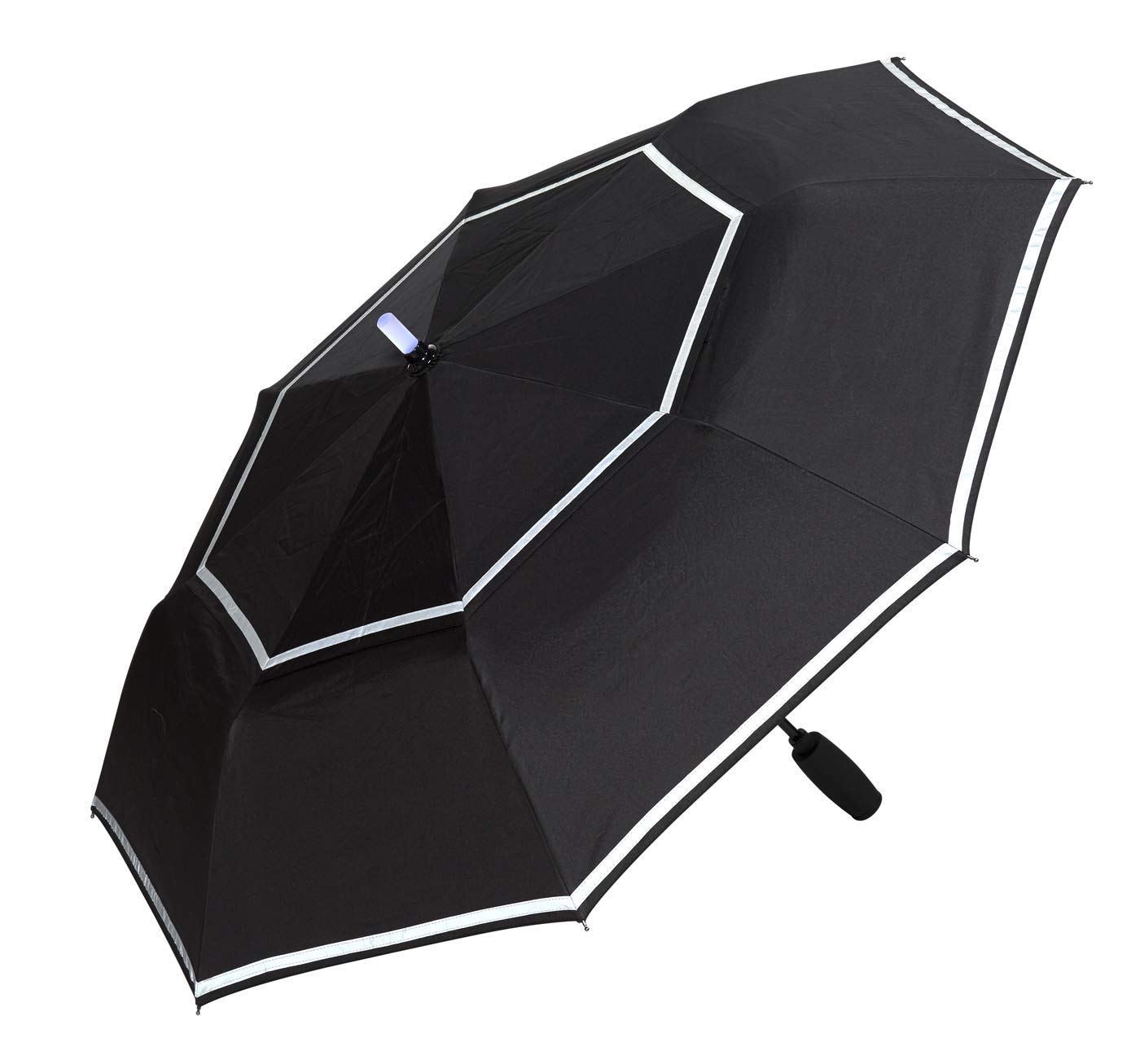 LifeLight LED Reflective Pedestrian Life Safety Windproof Umbrella. Tech Ready.