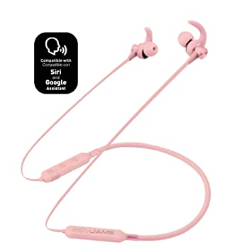 RevJams Studio Vue Wireless Sports Running Bluetooth Sweatproof Earbud  Neckband Headphones for Apple/Android Devices w/ 7 Hour Battery, Mic and