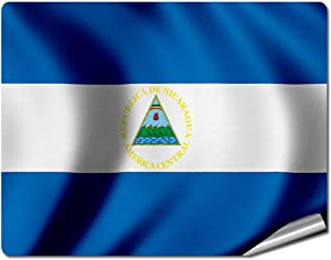 "ExpressItBest 8"" x 10"" Decal/Sticker/Skin with Flag of Nicaragua - Waves - UV Resistant - Outdoor Quality - Lasts for Years"