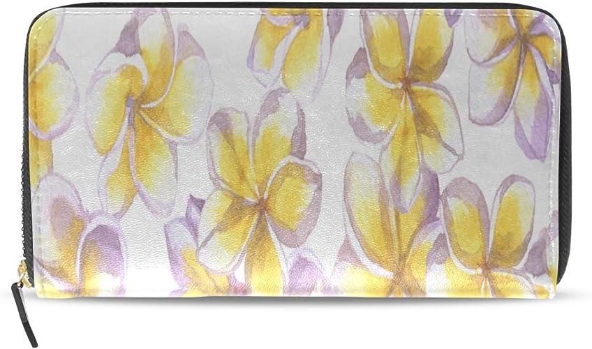 Gili Yellow Flower Travel Passport /& Document Organizer Zipper Case