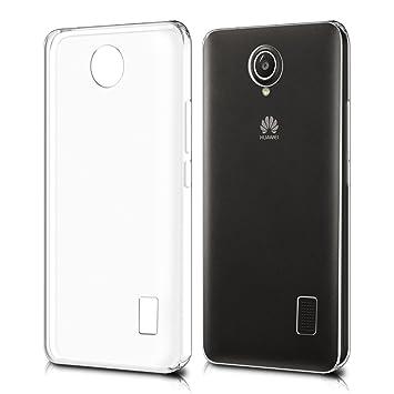 kwmobile Funda compatible con Huawei Y635 - Carcasa de TPU para móvil - Cover trasero en transparente