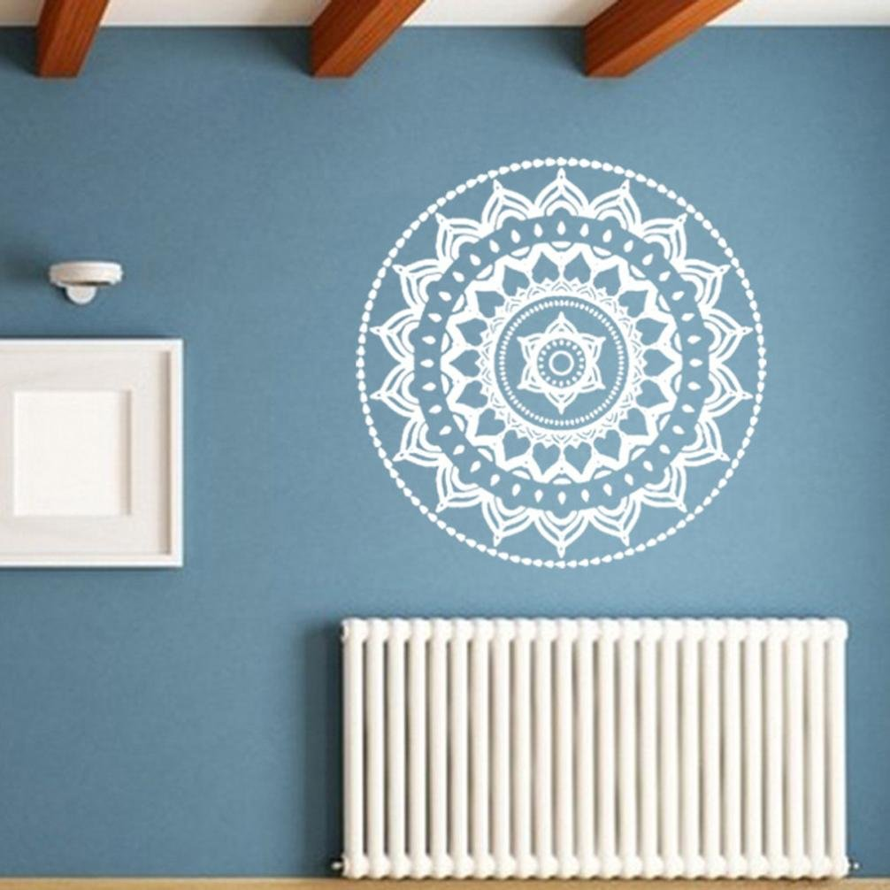 Koolee Clearance 42x42cm Mandala Flower Wall Sticker Indian Bedroom ...