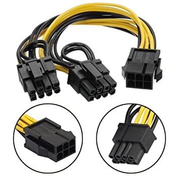 18AWG PCI-E 8Pin to 8Pin Y-Splitter Video Card Power Extension Cable