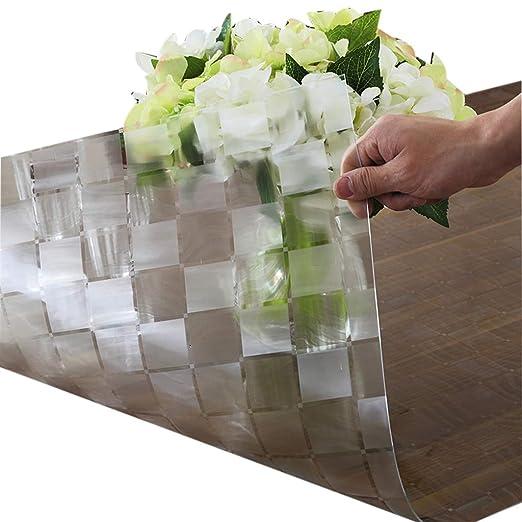 HUJSH 1.5mm PVC Transparente Mantel De Plástico Impermeable ...