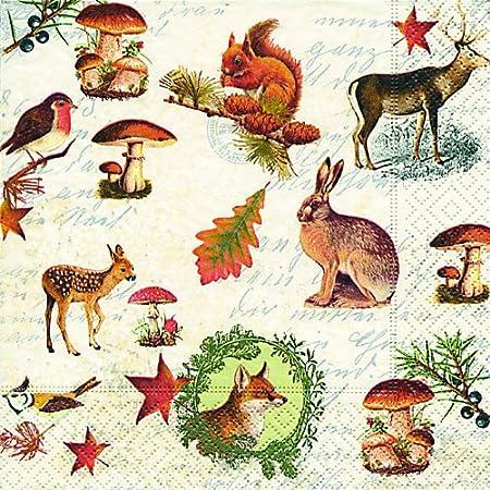 8 Sacs Cadeaux en Papier Animaux de la for/êt 11,4 x 20 cm Generique