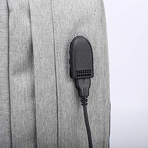 De Bolso Grey Bolso Black Hombres Negocio El YUEER Carga del Estudiante Bolso De La Los con USB Computadora del Puerto Oxford De Seguridad UwdTfqx1d