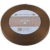 Country Brook Design 1 Inch Brown Nylon Heavy Webbing, 10 Yards