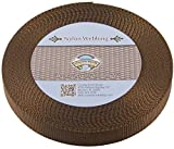 Country Brook Design | Brown Heavy Nylon Webbing (1 inch, 10 yards)