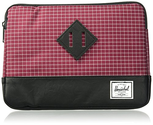 (Herschel Supply Co. Men's Heritage Sleeve Ipad Air, Windsor Wine Grid/Black Synthetic Leather, One Size)