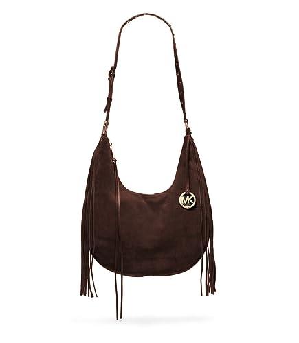 35f5429cfae3 Michael Kors Rhea Suede Large Shoulder Slouchy Bag Coffee  Handbags   Amazon.com