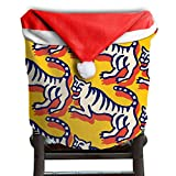 Tiger Animal Christmas Chair Covers Unique Comfort Touch Chair Covers For Christmas For Unisex Dinner Chair Covers Holiday Festive