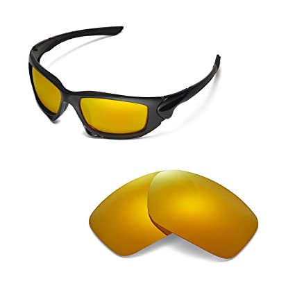 c16bf64dcb Walleva Replacement Lenses for Oakley Scalpel Sunglasses - Multiple Options  Available (24K Gold Mirror Coated