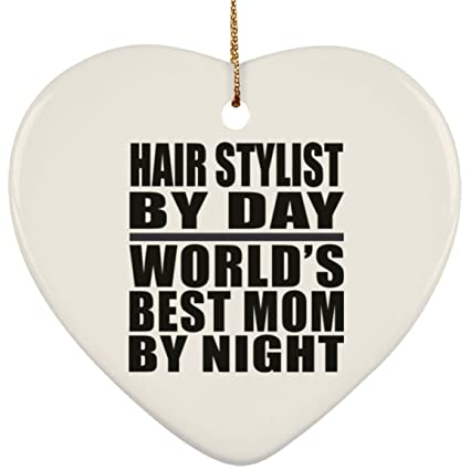 mom ornament hair stylist day worlds best mom night heart ornament xmas christmas tree decor
