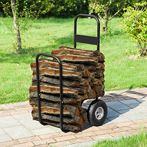 1900 Earth Worth | Firewood Log Cart | Wood Mover-Hauler-Roller | - Cart Firewood