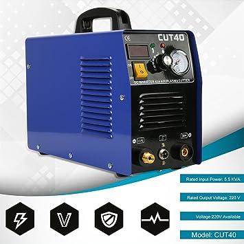 Soldador de Hilo Continuo sin Gas, CUT40 Profesional 50A Inversor Digital Air Plasma Cutter Machine 220 V Plasma Cutting Machine Cutter Máquina de ...