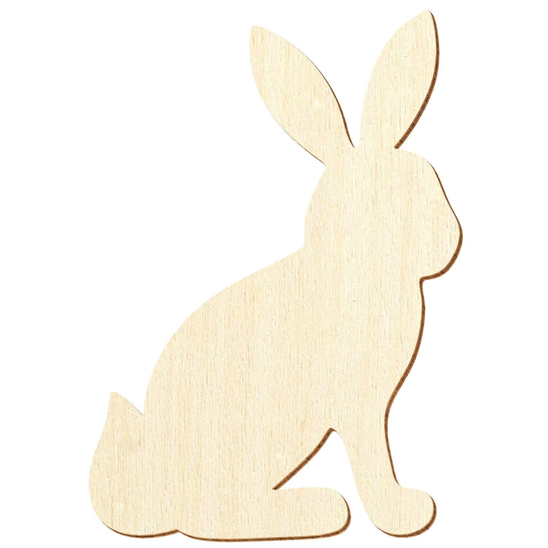 Holz Häschen Hase sitzend - 3-50cm Streudeko Basteln Deko Wanddeko, Pack mit 10 Stück, Größe 28cm B07PZYJB6R | Vorzugspreis