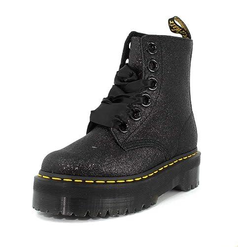 Dr. Martens Mujer Negro Glitter Molly Botas: Amazon.es: Zapatos y complementos