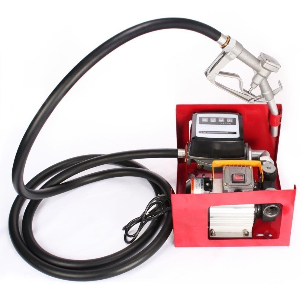 Chrisun Pompe Diesel 220V 550 W Pompe Aspiration Huile 2800 R / min Pompe à Diesel Pour Fuel ou Gasoil Bio (Pompe Diesel)