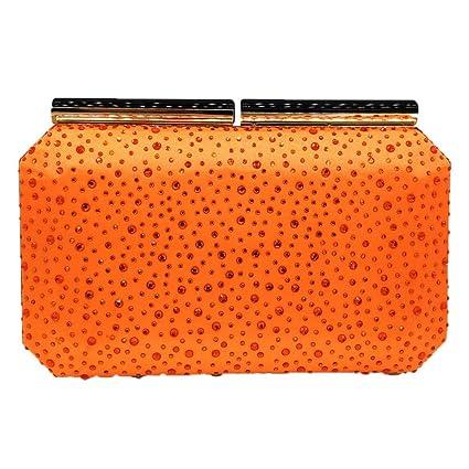 Uiophjkl Bolso de la Cena Color sólido Sección Transversal Cuadrado Bolsa de perforación Caliente Bolso del