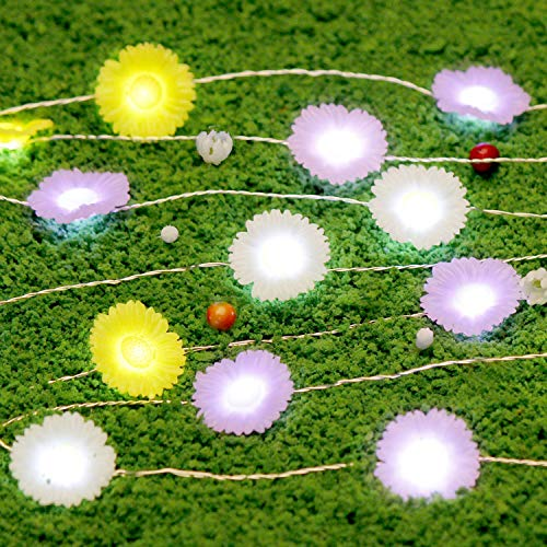 Impress Life The Works of God Outskirts Theme Daisy String Lights, 10 ft 40 LEDs with Remote for Patio, Terrace, Birthday, Parties, Bedroom, House, Living Room, Home Decorations]()