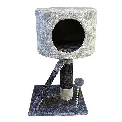 Nobleza 019922 - Juguete rascador Para Gatos, Tipo Árbol con Varias Plataformas y Cueva. Color Gris, Alto 52cm.: Amazon.es: Zapatos y complementos