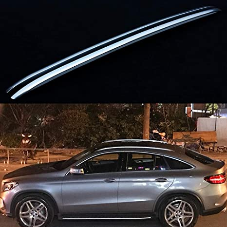 Lequer Crossbar Cross bar Roof Rack Rail Fits for Mercedes Benz GLE V167 2019 2020 Silver