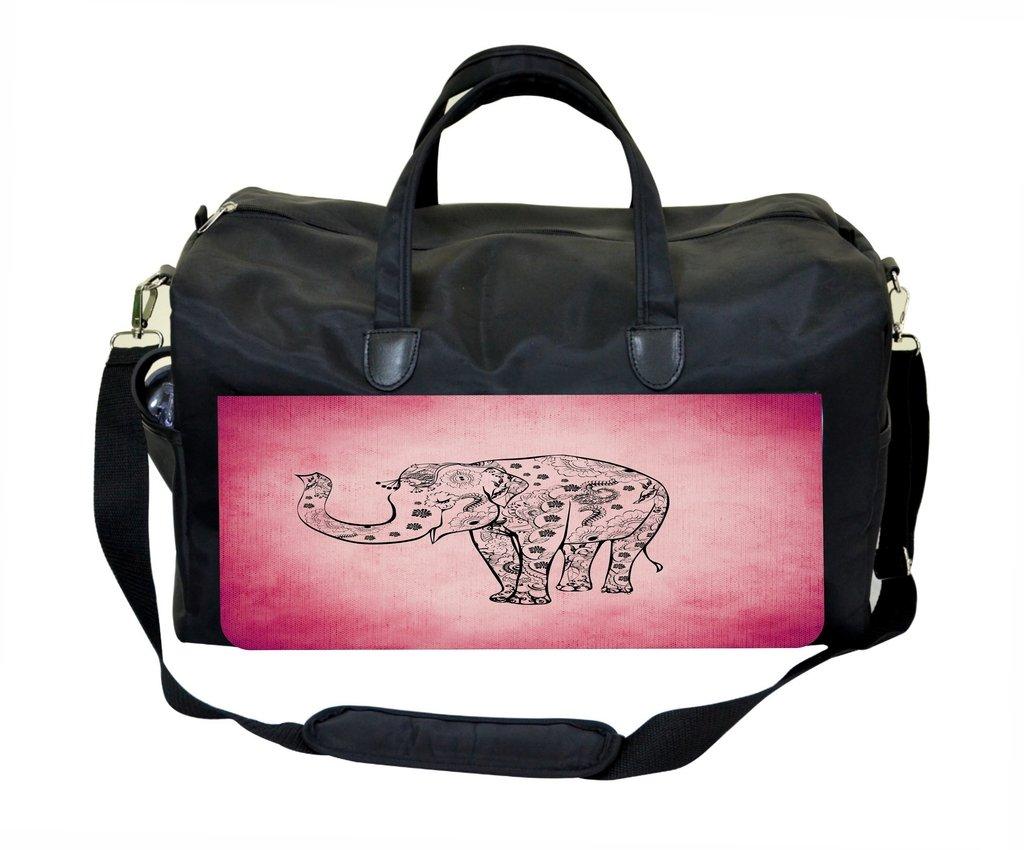 Tribal Elephant on Pink Gym Bag