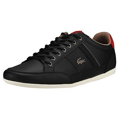 f8e1df40ea8c Lacoste Chaymon 118 2 Mens Trainers Black Red - 7 UK
