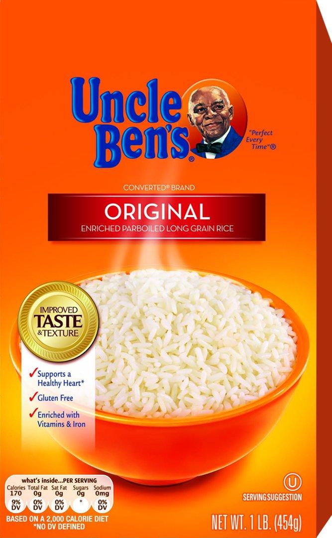 UNCLE BEN'S Original Long Grain White Rice 1lb, (12pk)