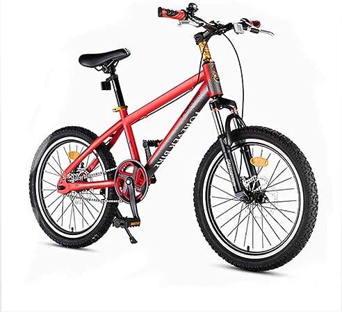 Bicicleta plegable, bicicleta de carretera, freno de disco de una sola rueda bicicleta de carretera de una sola velocidad estudiante adulto bicicleta de montaña hombres y mujeres 18 pulgadas,Rojo: Amazon.es: Hogar