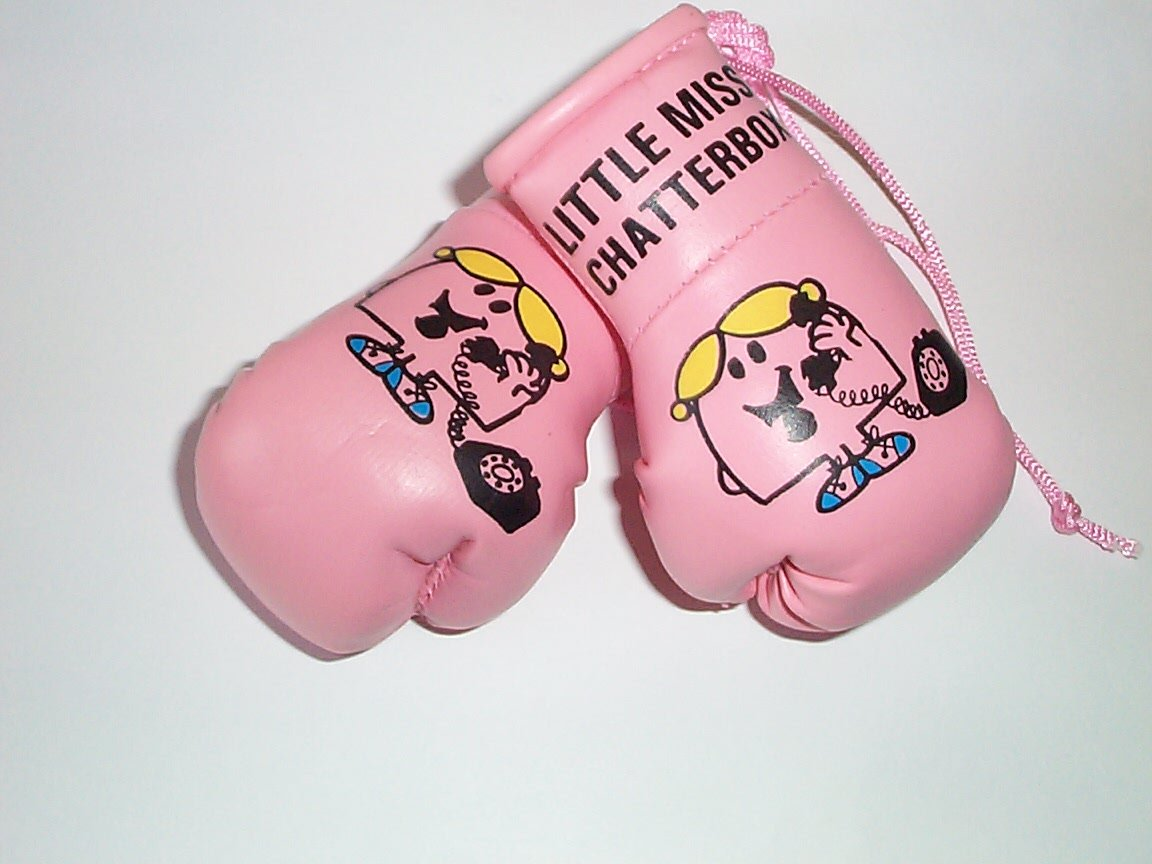 Mr Men Little Miss Chatterbox Mini Boxing Gloves by Mr Men GB Falconry