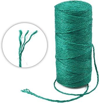 Dark Green Vivifying 656 Feet Green Garden Twine Bundling Natural 2mm Jute Twine for Floristry Crafts